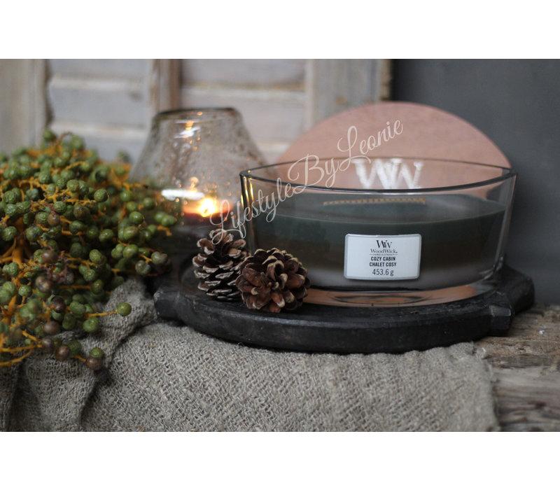 WoodWick Cozy cabin trilogie hearthwick flame