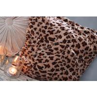 Kussenhoes bruin Leopard 40 cm