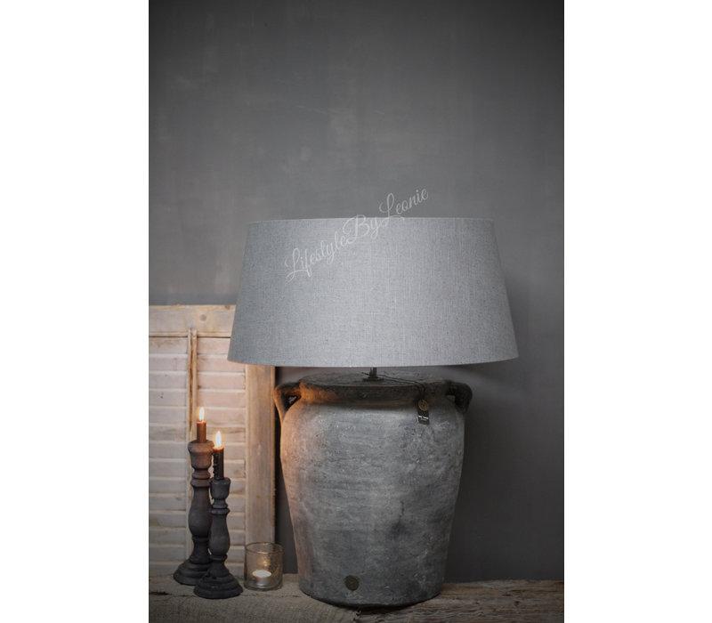 Brynxz grote ronde lampenkap grijs 60 cm