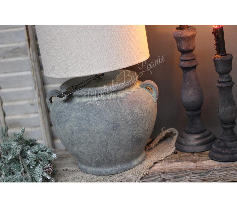 Brynxz stenen kruiklamp met 2 oren 26 cm