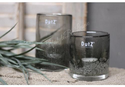Dutz DUTZ cilinder windlicht bubbels Olive 14 cm