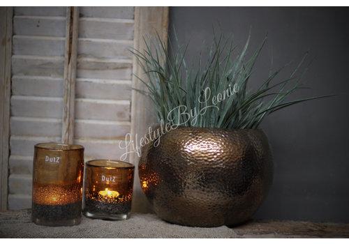LifestyleByLeonie Ronde bloempot Gold/Copper
