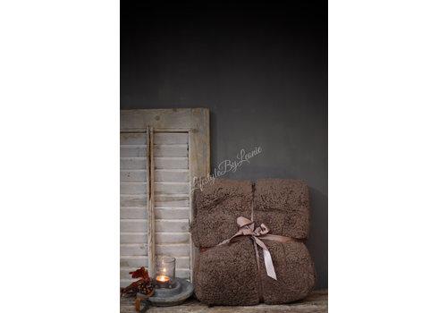 LifestyleByLeonie Teddy plaid Taupe 200 cm