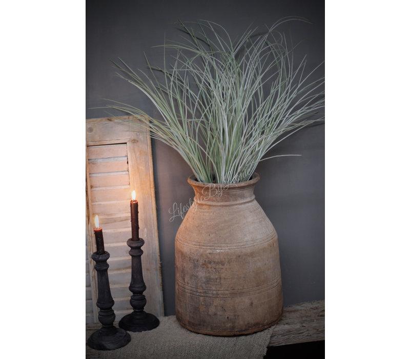 Grote zijden Grass bush grey wash 72 cm