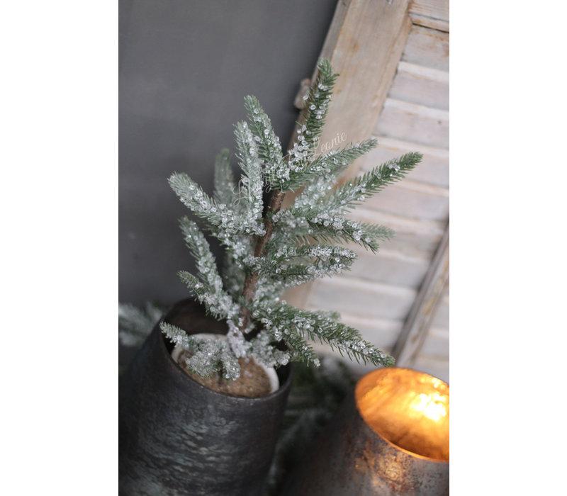Kerstboom ijskristallen in pot 40 cm