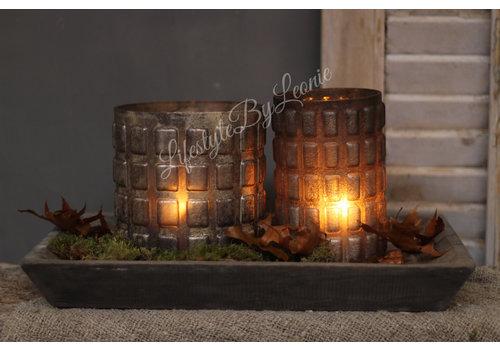 LifestyleByLeonie Sober cilinder windlicht Blocks 14 cm