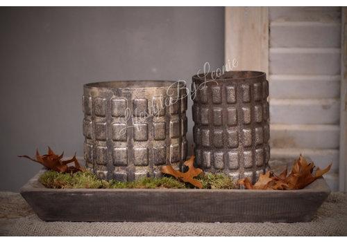 LifestyleByLeonie Sober cilinder windlicht Blocks 10 cm