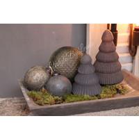 Sobere glazen kerstbal Soda Grey 13 cm