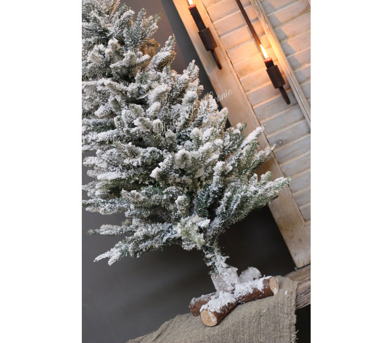 Pinetree kerstboom Snow white 90 cm
