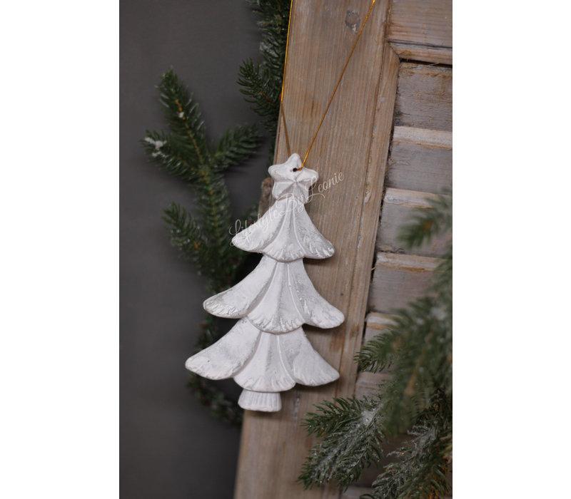 Houten kerstboom hanger / ornament