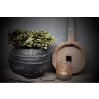 Brynxz ronde kruik / pot antraciet 25 cm