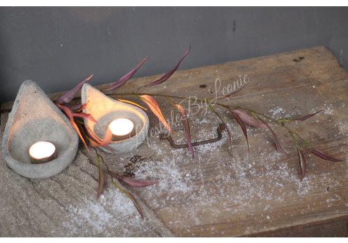 Brynxz Brynxz zijden eucalyptus tak pink/creme 87 cm