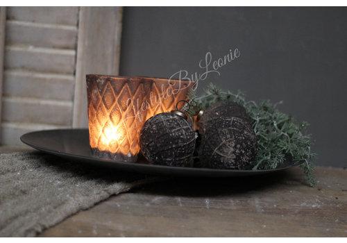 LifestyleByLeonie Sober windlicht black/grey conic