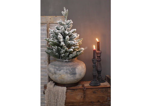 Pinetree kerstboom Snow white 60 cm