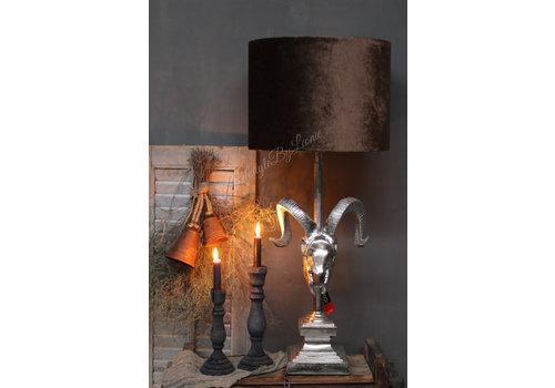 LifestyleByLeonie Cilinder lampenkap velvet camel 40 cm