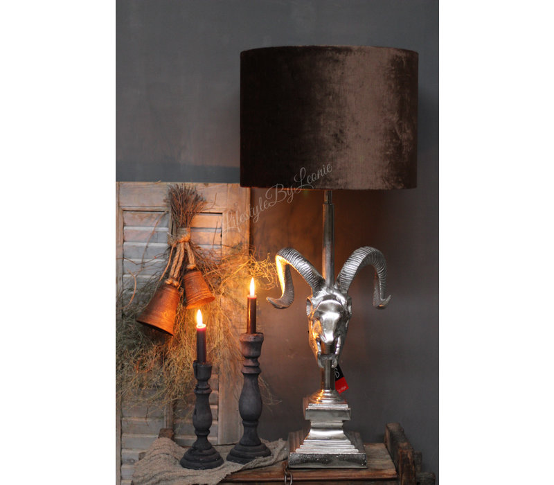 Cilinder lampenkap velvet camel 40 cm