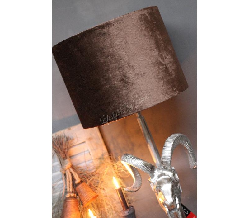Velvet cilinder lampenkap Camel 40 cm