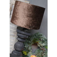 Velvet cilinder lampenkap Camel 30 cm