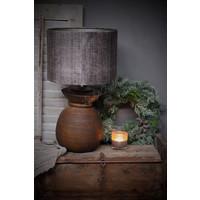 Cilinder lampenkap Bark taupe 30 cm