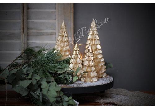 LifestyleByLeonie Kerstboom kaars goud 12cm