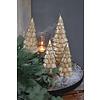 LifestyleByLeonie Kerstboom kaars goud 20 cm