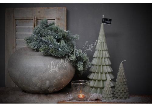 LifestyleByLeonie Kerstboom kaars pastel green 40 cm