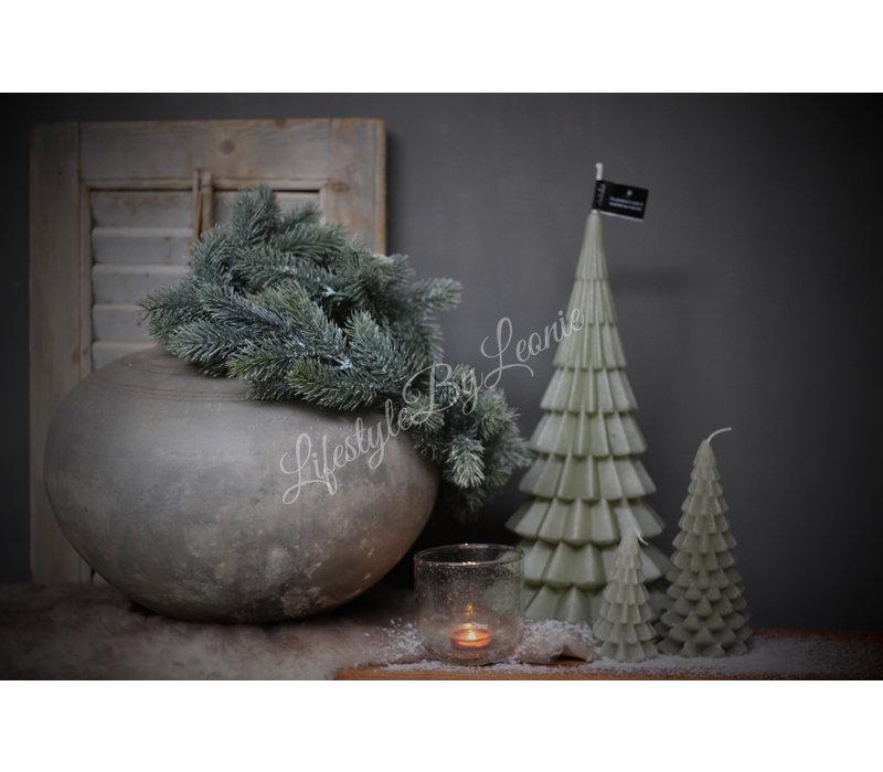 Kerstboom kaars pastel green 40 cm