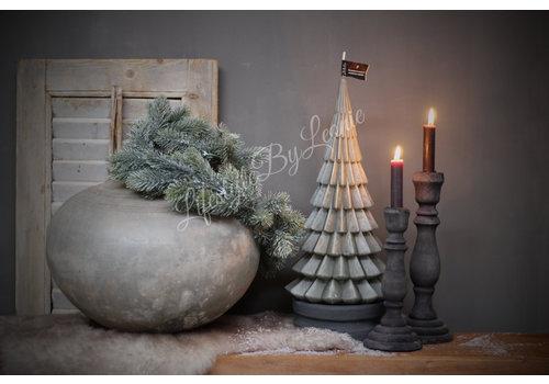 LifestyleByLeonie Kerstboom kaars stone 40 cm