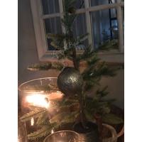 Sobere glazen kerstbal Soda mudd 10 cm