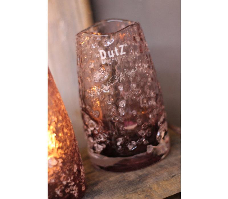 DUTZ windlicht steenslag Aubergine 15 cm
