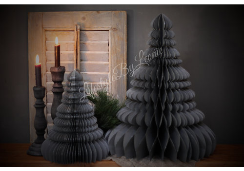 LifestyleByLeonie Papieren kerstboom grijs 50 cm