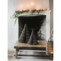 Papieren kerstboom grijs 30 cm