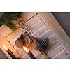 LifestyleByLeonie Papieren kerstbal Onion grijs 10 cm