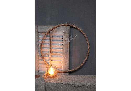 LifestyleByLeonie Grote ring van robuust touw 50 cm