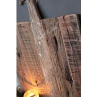 Grote oud houten tapasplank vierkant 52 cm