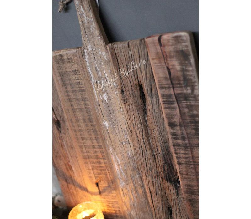 Grote oud houten tapas plank 50 cm