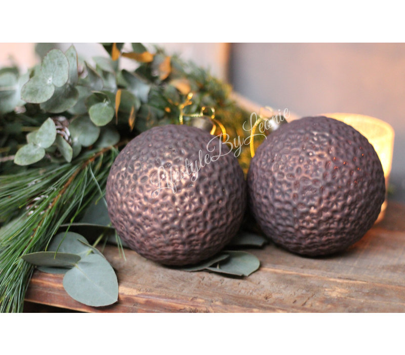 Kerstbal Brown brons 10 cm