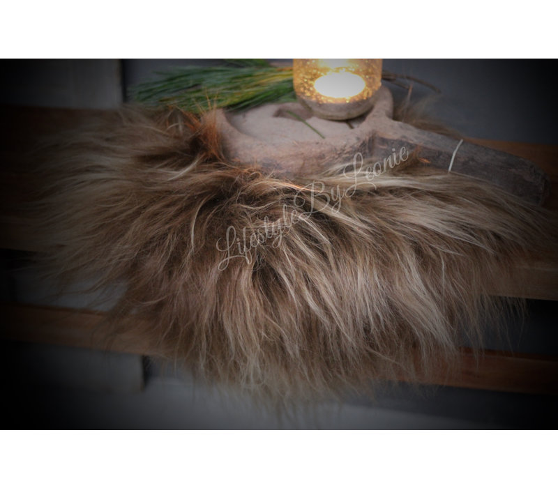 Tibetaans lamsvacht Camel roest 40 cm