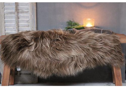 LifestyleByLeonie IJslandse schapenvacht Camel roest 110 cm