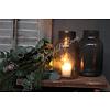 LifestyleByLeonie Glazen windlicht conic Smoke 20 cm