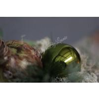 Kerstbal mos groen glans