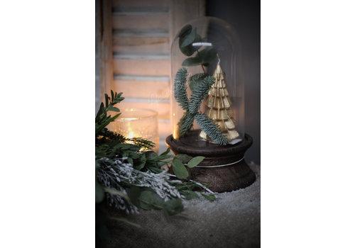 LifestyleByLeonie Kerstboom kaars goud 12 cm