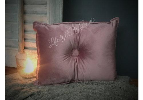 LifestyleByLeonie Velvet kussen rechthoek Old pink 40 cm