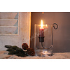 LifestyleByLeonie Glazen cilinder windlicht 15cm