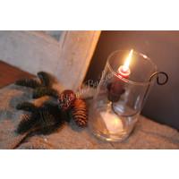 Glazen cilinder windlicht 15 cm
