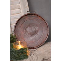 Metalen ronde plate/tray Roest 30 cm