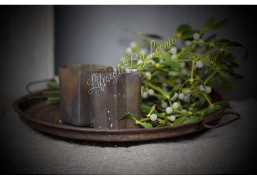 LifestyleByLeonie Metalen ronde plate/tray |Roest 30cm