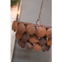Metalen roestige schijfjes hanglamp 50 cm