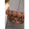LifestyleByLeonie Metalen roestige schijfjes hanglamp|M