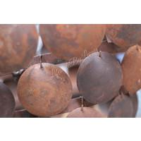 Metalen roestige schijfjes hanglamp - maat M